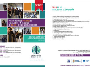 Programa de presentación de pósteres de Taller I de Ingeniería Biológica 2017-web