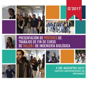 Publicación de pósteres de trabajo de fin de curso de la asignatura Taller 1 de Ingeniería Biológica 2017